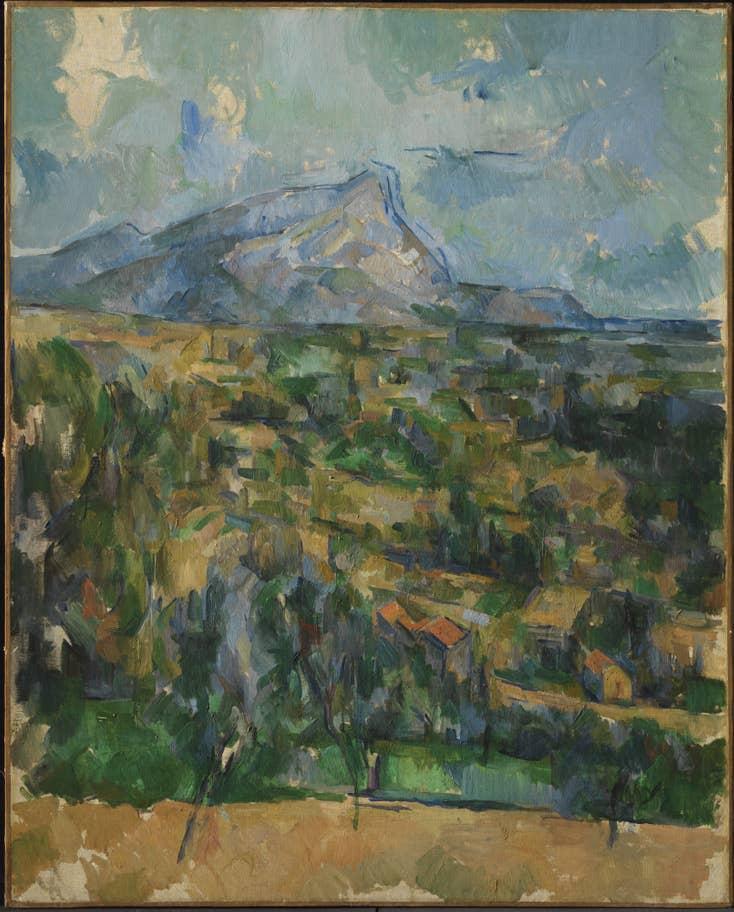 Mt St Victoire, Cezanne (c.1895) at Princeton University Art Museum, New Jersey