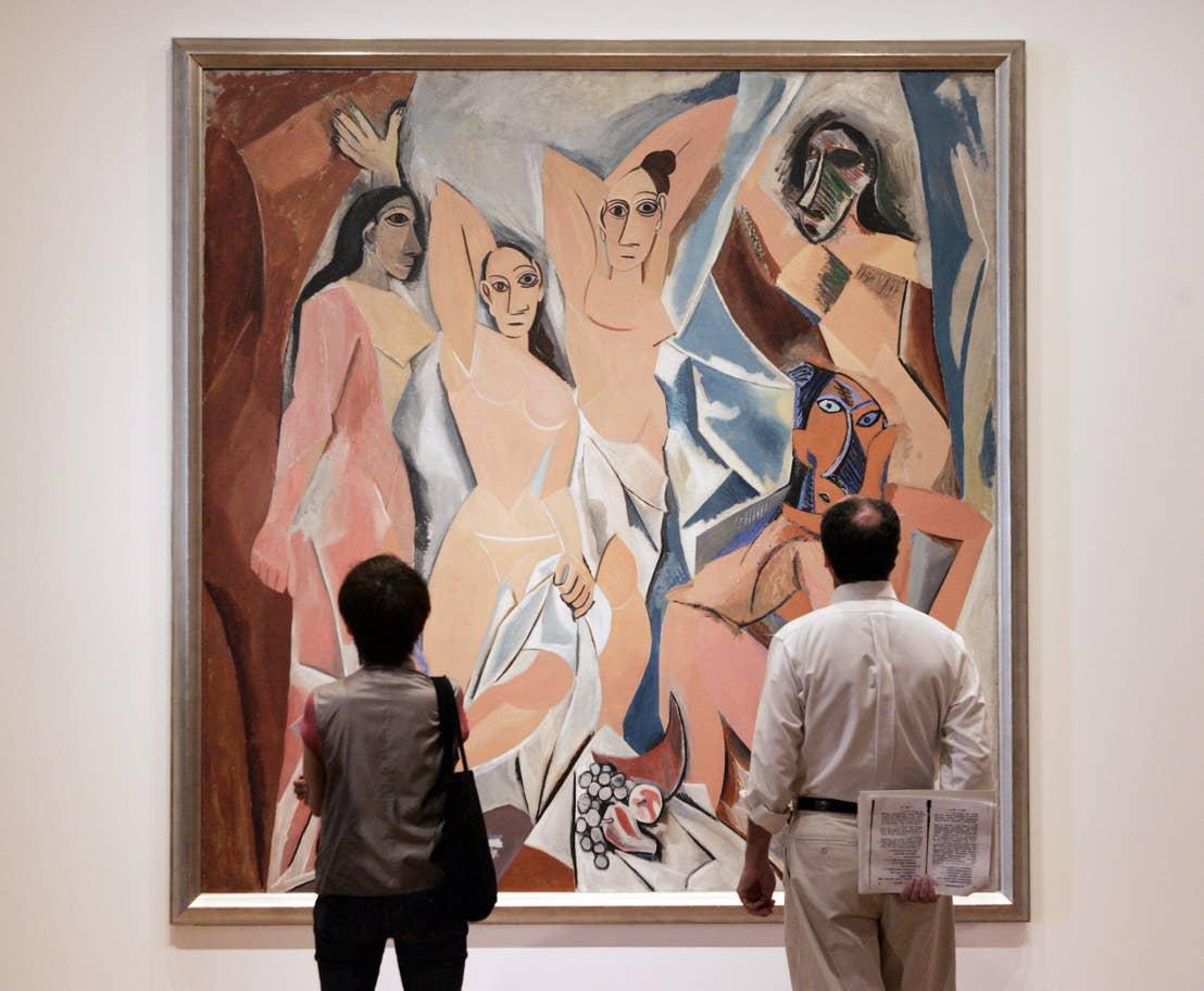 Pablo Picasso's Les Demoiselles d'Avignon (1907) at the Museum of Modern Art, New York
