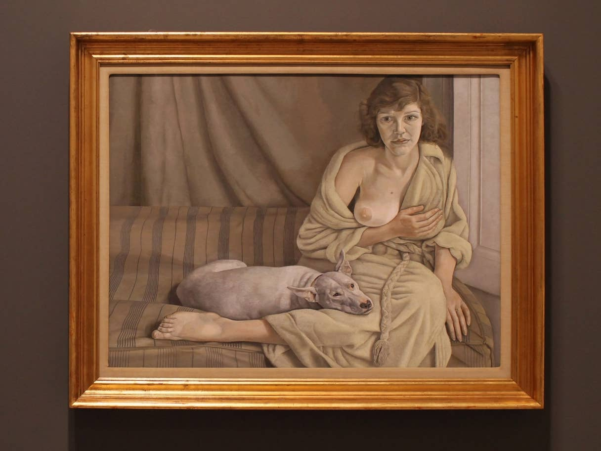Lucien Freud's Girl with a White Dog(1951) at Tate, London