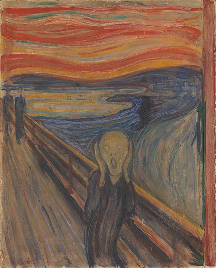 Edvard Munch's The Scream (1893) at The National Museum, Oslo from 2020