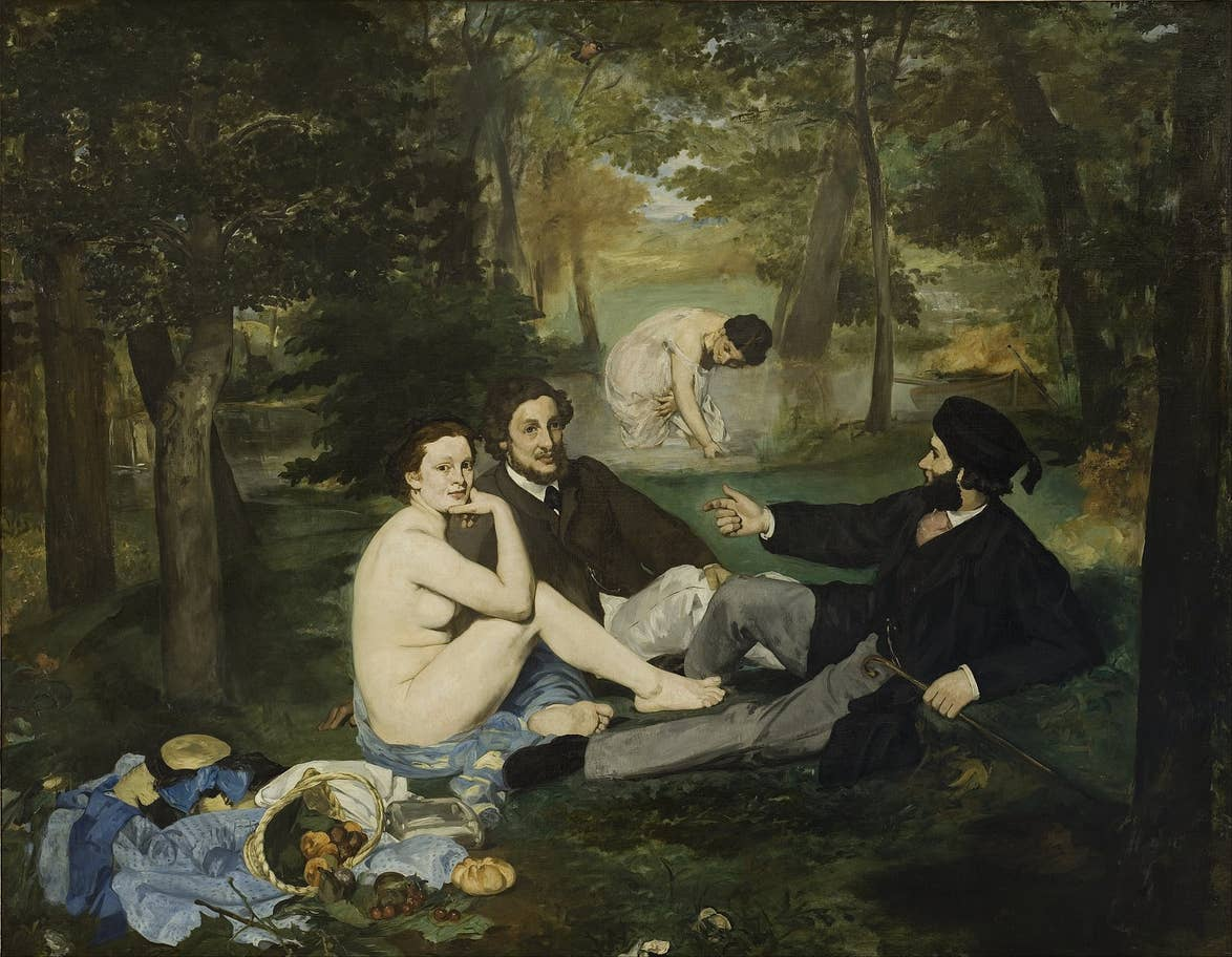 Édouard Manet's Le Déjeuner sur l'herbe (1862) at the Musee d'Orsay, Paris