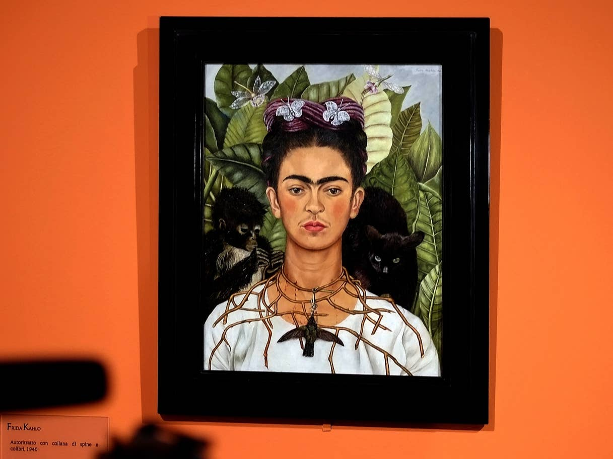 Frida Kahlo's Self-Portrait with Thorn Necklace and Hummingbird (1940) at Harry Ransom Center, University of Texas, Austin