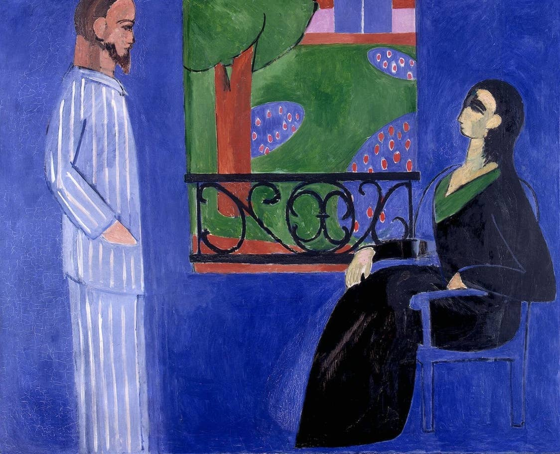 Henri Matisse's Conversation (1908-1912) at the State Hermitage Museum, St Petersburg