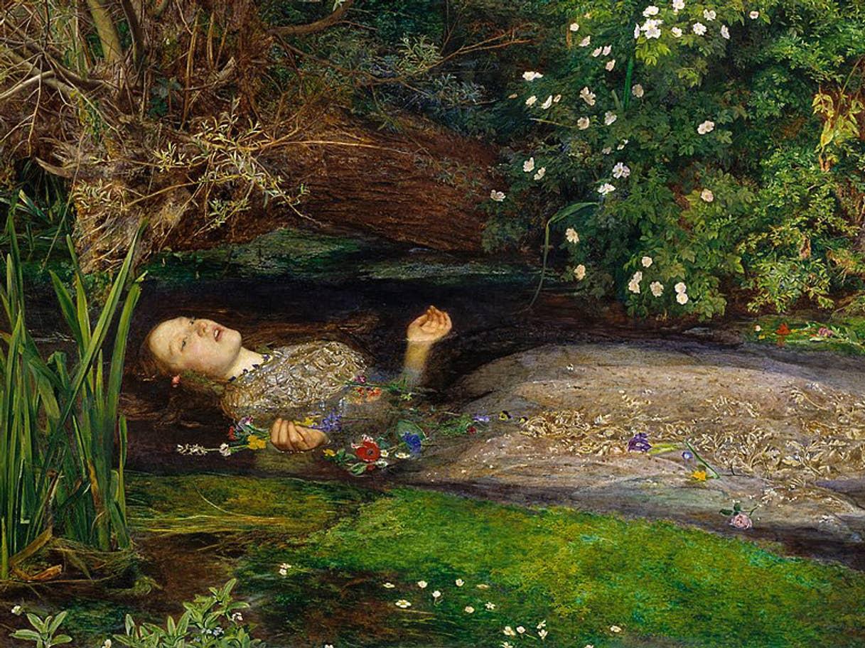 Sir John Everett Millais's Ophelia (1851-1852) at Tate Britain, London