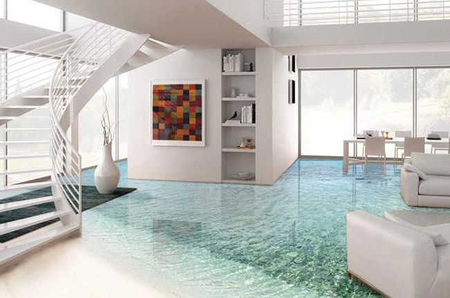 3D epoxy coatings are a great alternative to unusual interior designs