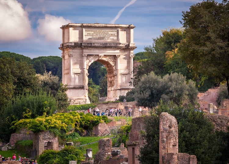 The Arch of Titus in Roman Forum (Stock Photos from ansharphoto/Shutterstock)