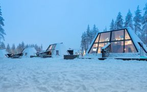 A unique Cabin Collection with Large Windows and Attic Bedrooms has been designed for the holiday destination in Finland.