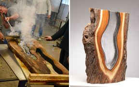 Artists Blow Trees Fallen From Melted Glass To Create Beautiful Sculptures