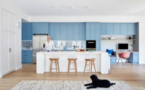 Light Blue Kitchen Cabinets Add A Colorful Touch To Your Home