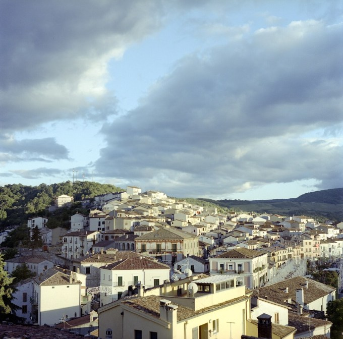 A view of Accettura from the top of the town.