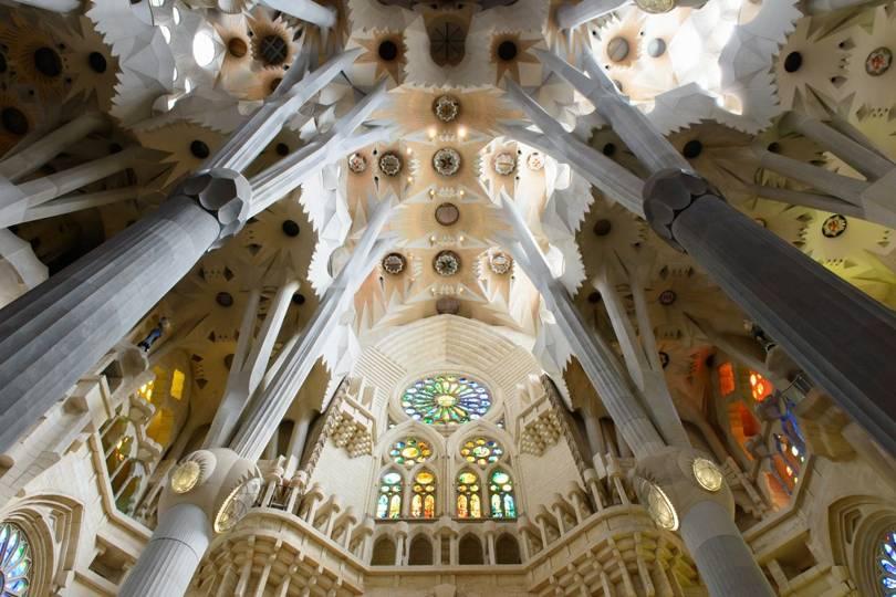 Sagrada Familia interior. Photo by Francisco Cornella