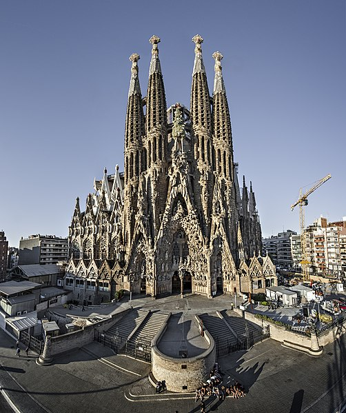 Sagrada Familia Nativity Facade. Photo by Sagrada Familia Official CC BY-SA 3.0