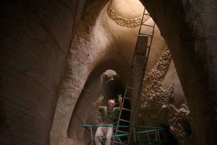The artist has spent the last 25 years in the cave30.