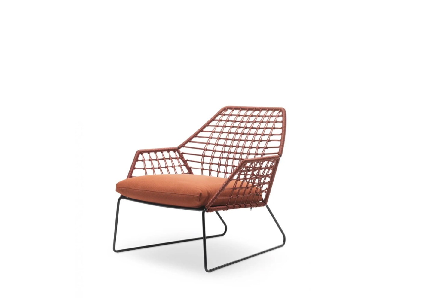 In a choice of six colours, woven polyethylene cord also gives Saba Italia's New York Soleil chair its laid-back charm. The tubular metal frame is specially treated for outdoor use while cushions are covered in quick-drying, non-absorbent fabric with removable outer cushion covers in 13 different shades.