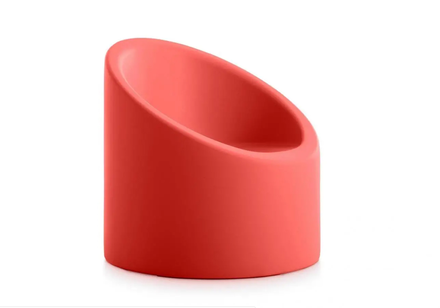 Easy to pop outside when the sun shines is Diabla's cheeky, bright pink Lipstick chair. Shaped like its namesake, it's made from 100 per cent recyclable polyethylene.